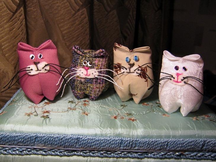 Котики из ткани своими руками